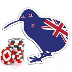 The New Zealand Kiwi bird with casino chips